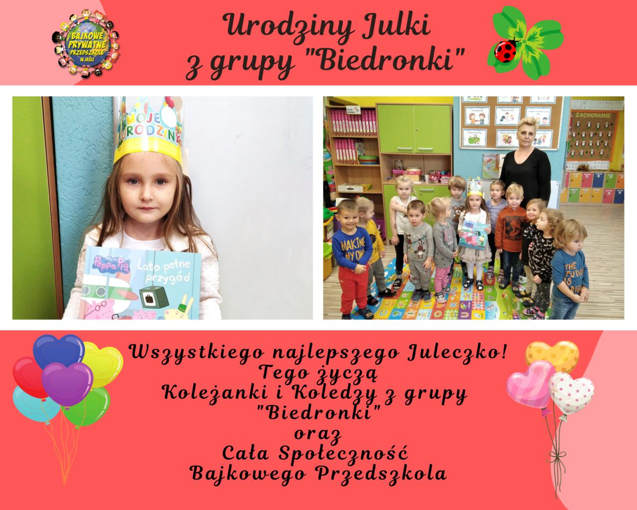 1. Urodziny Lenki z grupy _Biedronki_