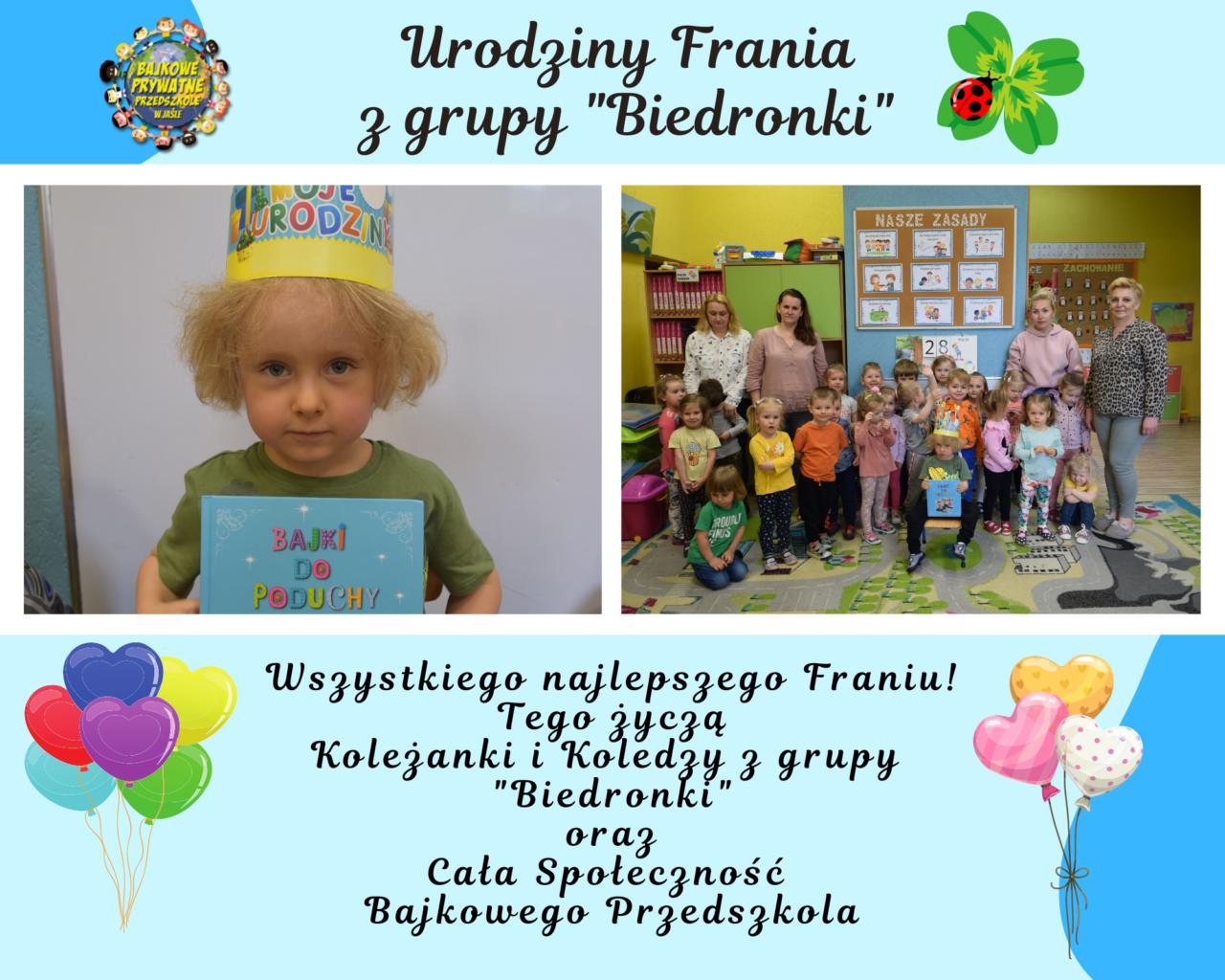 1. urodziny frania